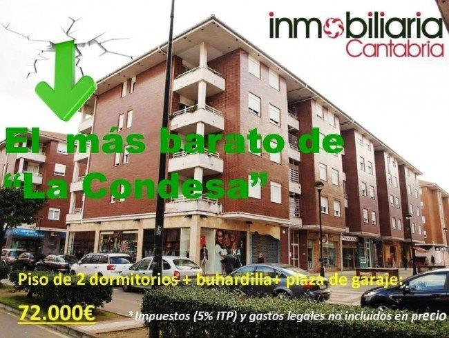 Piso en venta en Los Corrales de Buelna con 2 habitaciones, 1 baños y 80 m2 por 72.000 €