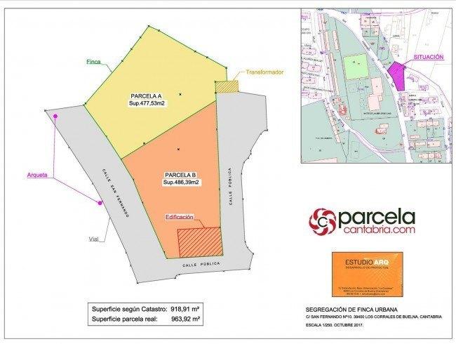 Terreno urbano en venta en Los Corrales de Buelna con 486 m2 por 60.000 €