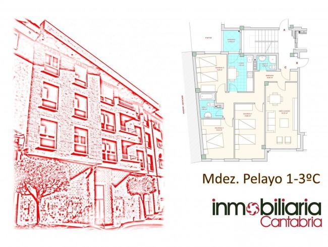 Piso en venta en Los Corrales de Buelna con 3 habitaciones, 2 baños y 91 m2 por 85.000 €